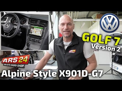 Rießiges Autoradio im VW Golf 7 | Tutorial | Alpine X901D-G7 / X902D-G7A | ARS24