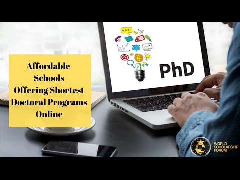 Affordable Schools Offering Shortest Doctoral Programs Online in 2021