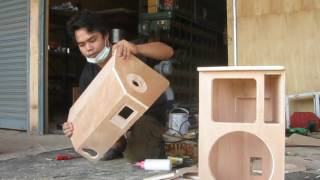 Assemble speaker 10 inch  ประกอบตู้   PS 10  นิ้ว