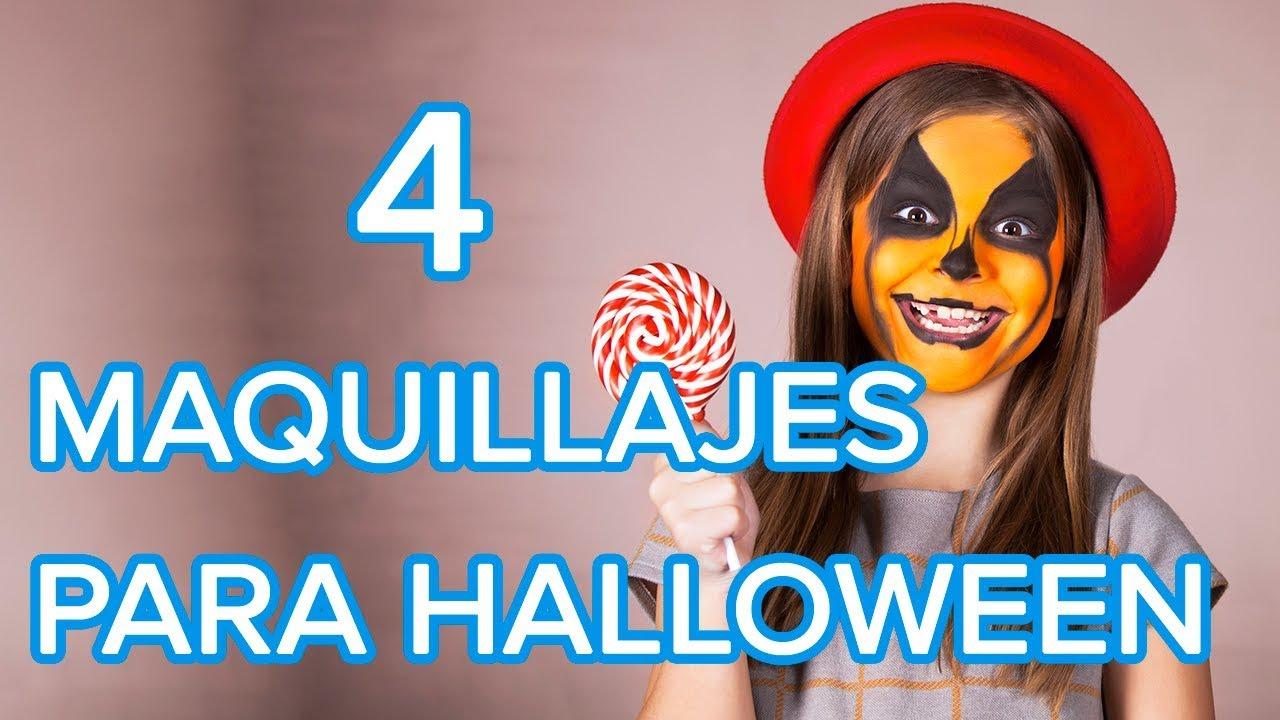 4 maquillajes para Halloween | Maquillajes para niñas y niños
