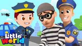 Policeman Keeps Us Safe |  Little Angel Kids Songs & Nursery Rhymes