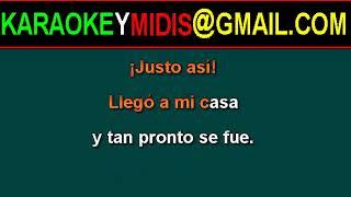midi abba - just like that (español) karaoke