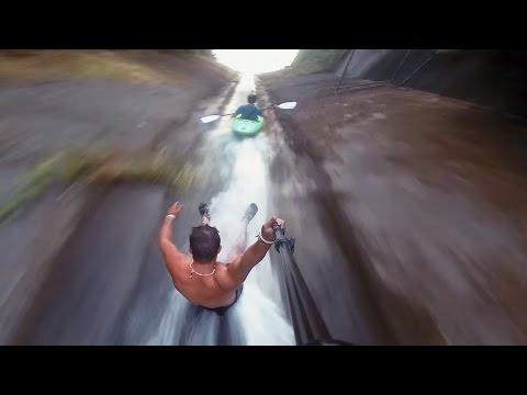 Kayaking Down a SEWAGE DRAIN