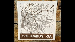 Laser Engraving Street/ Road Maps With The Glowforge Using Silhouette Studio