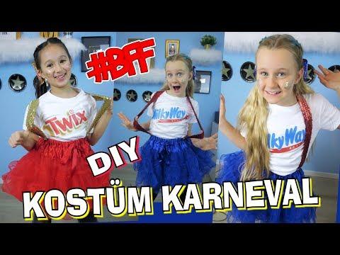 BFF Kostüm Karneval 😵 Fasching DIY Twix Milkyway   Mavie Noelle