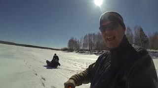 Зимняя рыбалка на озере аргази