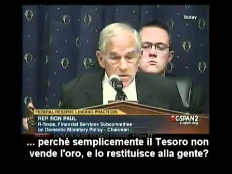 Ron Paul scopre che la FED non possiede oro