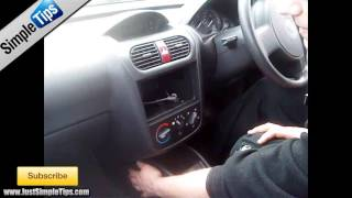 How to fit a radio into a Vauxhall Corsa | JustAudioTips