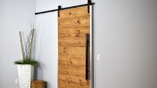 How I Made My Sliding Barn Door | Rustic Modern