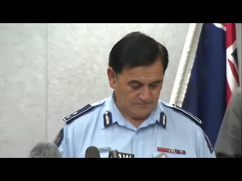 Police speak to reporters about New Zealand mosque attack victim identification