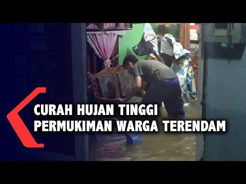 curah hujan tinggi permukiman warga terendam air