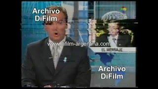 DiFilm  Asunción De Nestor Kirchner  Noticiero America Noticias 2003