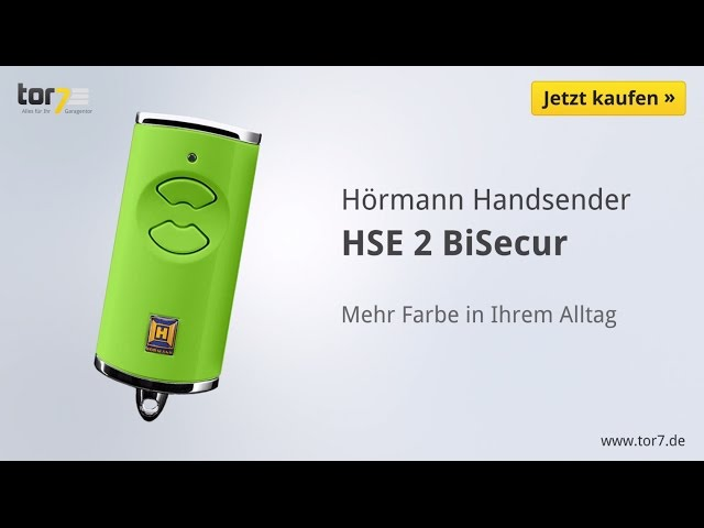 Produktvideo Hörmann Handsender HSE 2, BiSecur, hochglanz orange