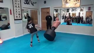 "Kung Fu Kids ""Can You Knock Down the 270 lb Bob?"""