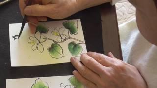 絵手紙入門楽しく簡単に四季を描こうどくだみの花と道