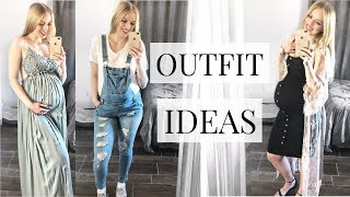 Maternity OUTFIT IDEAS For The THIRD TRIMESTER / Baby Shower Outfits | Fashion 2019