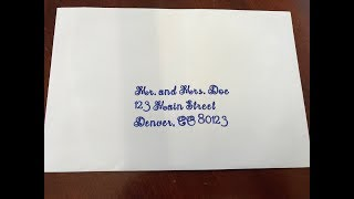 Cricut Design Space- How to Write on Wedding Envelopes
