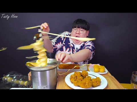 😭 Couldn't Help But Watch This Cheese Fondue & 🍗 ASMR