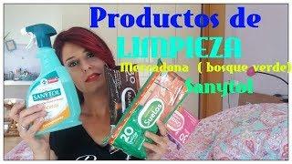 Productos De LIMPIEZA - MERCADONA -SANYTOL-Toallitas Baño, Suelo , Cristales Y Muebles.