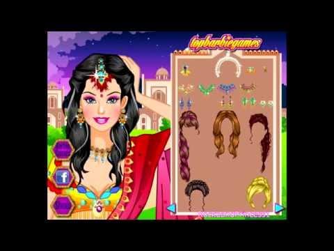 Games online barbie dress play indian wedding free up Indian Barbie
