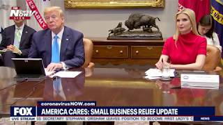 SMALL BUSINESS RELIEF: Trump roundtable with companies helping during Covid-19
