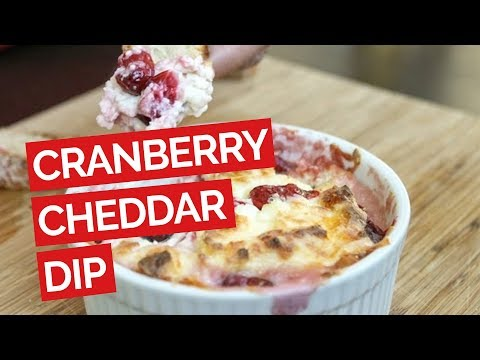Gooey White Cheddar and Cranberry Dip Recipe