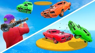 RPG vs Cars + Sumo Derby = EPIC BATTLE! - GTA 5 Funny Moments