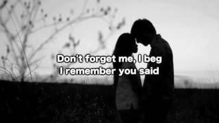 Witt Lowry   Don't Forget Me (lyrics On Screen)