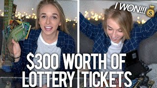 SCRATCHING $300 WORTH OF LOTTERY TICKETS - Video Youtube
