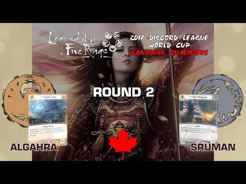 Legend of the Five Rings (Jigoku) – Round 2 | 2018 Discord World Cup Canadian Qualifiers