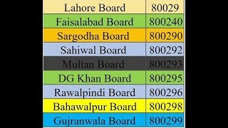 How to check result bise sahiwal bise lahore bise multan or all bords