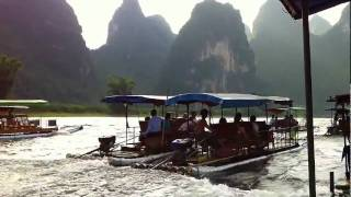 Video : China : Boating near YangShuo 阳朔 - video