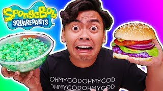 I Only Ate SPONGEBOB FOODS for 24 Hours