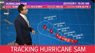 Tropics update: Sam expected to become a major hurricane, making it the 4th of the year