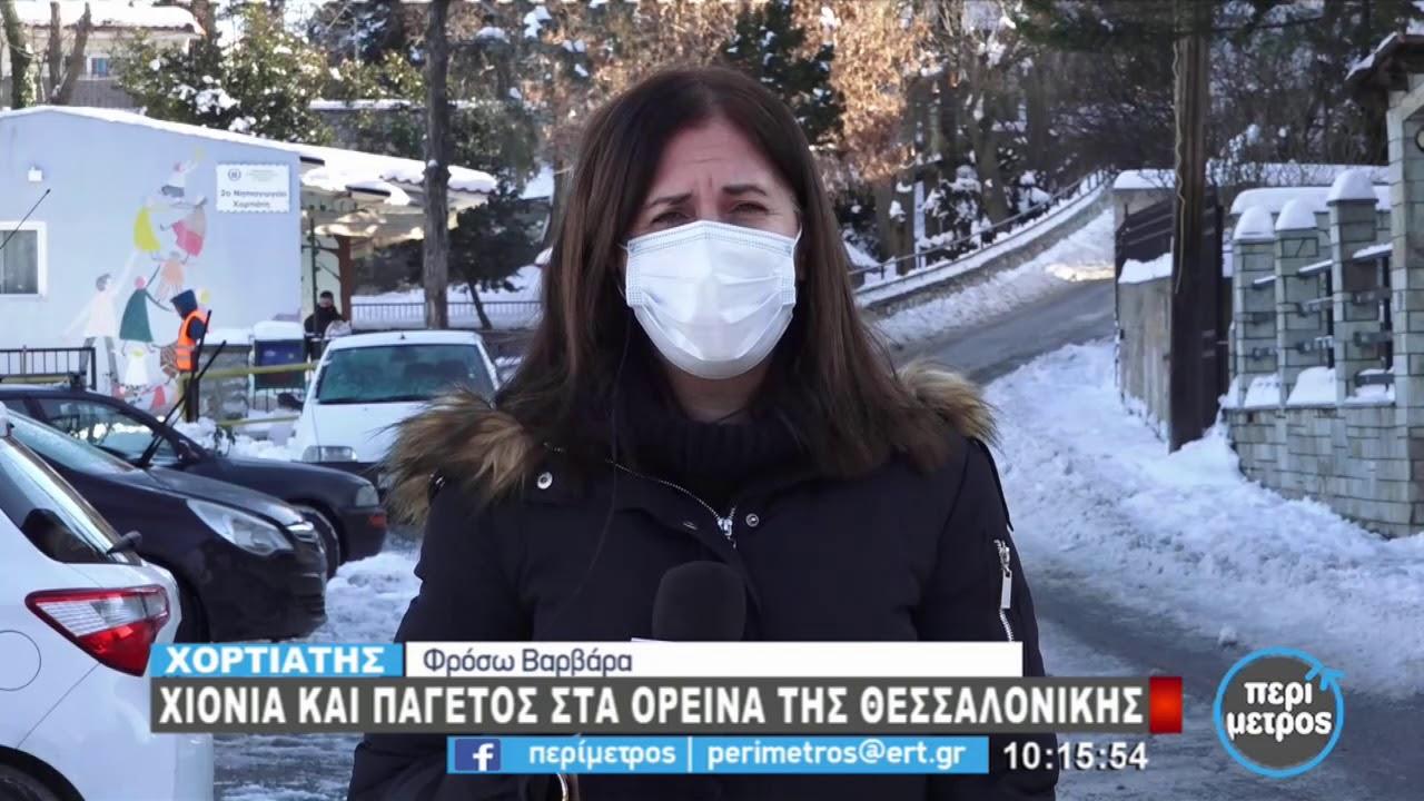 Χιόνια και παγετός στα ορεινά της Θεσσαλονίκης | 18/01/2021 | ΕΡΤ