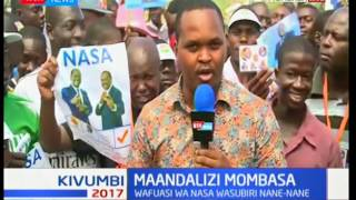 Maandalizi Mombasa : Wafuasi wa wajitokeza kuwakaribisha vigogo wa NASA