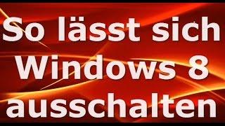 preview picture of video 'Windows 8: Wie Sie den PC ausschalten können ...'