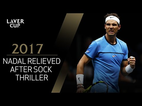 Nadal relieved after thriller against Sock (Match 6) | Laver Cup 2017