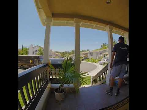 My buddy make a fake ad for Amazon with footage from his doorbell camera