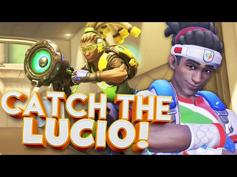 OVERWATCH CATCH THE LUCIO CUSTOM GAMES!!