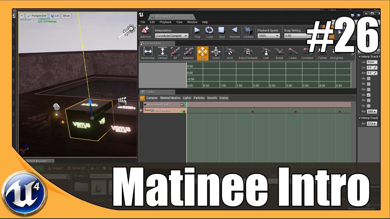 Unreal Engine 4 Beginner Tutorial Series - #26 Matinee Introduction