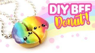 DIY BFF Rainbow Donut Charms! -Polymer Clay Tutorial | KAWAII FRIDAY