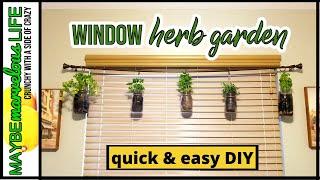 DIY Window Herb Garden | Hanging Indoors