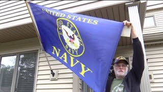 Veteran Claims he Was Told to Take Down Navy Flag Outside His Home