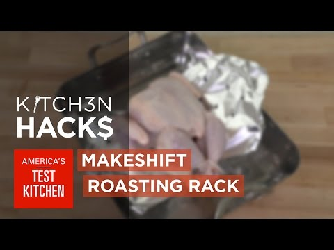 Make A Roasting V-Rack Out Of Stove Grates And Aluminium Foil