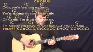 Cecilia (Simon & Garfunkel) Strum Guitar Cover Lesson with Chords/Lyrics Capo 4th