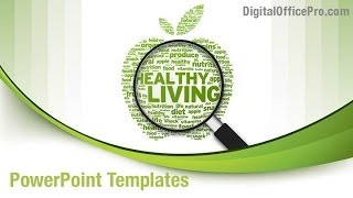 Healthy Lifestyle PowerPoint Template Backgrounds - DigitalOfficePro #00253W
