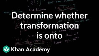 Determining whether a transformation is onto
