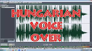 Hungarian voice-over and narration for radio and TV commercials and videos