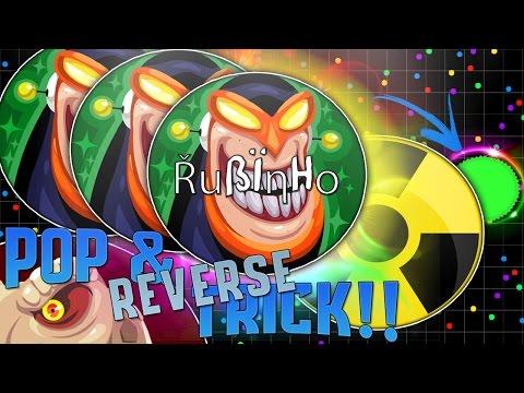 POPSPLIT & REVERSE TRICK!! | Agar.io | Rubinho vlc